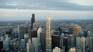 Trump Tower Chicago Floor Plans Aerial View At Sunrise Of Trump Tower Chicago Usa Stock Video