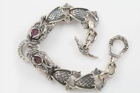 dragon bracelet silver images Giant drago natural ruby biting dragons silver bracelet br 013 jpg