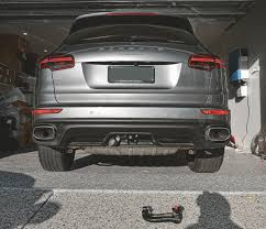porsche cayenne trailer hitch porsche cayenne tow bar detachable towbar oem westfalia invisible