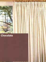 Overstock Drapes Insulated Chocolate Brown Solid Color 48
