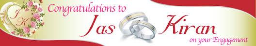congratulations engagement banner home