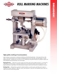 roll marking machines pannier pdf catalogue technical