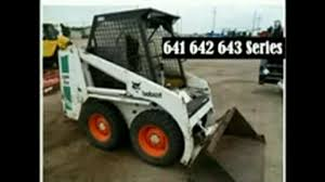 bobcat 641 642 643 skid steer loader service repair workshop