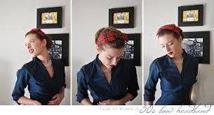1950s headband how to make a 50 s headband 3rdrevolution