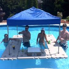 floating table for pool bar kit
