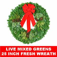 live christmas wreaths christmas decorations wreaths live and fresh christmastopia