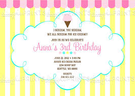 ice cream social printable party invite dimple prints shop