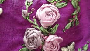 silk ribbon roses silk ribbon embroidery to the coming of just sew