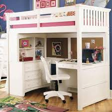 used bunk bed with desk girls loft bed s room pinterest lofts girls and room