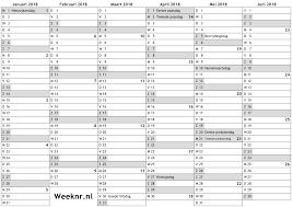 Kalendar 2018 Nederland Kalender Voor 2018 Met Weeknummers En Feestdagen Nationale