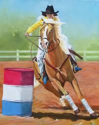 Barrel Racing Home Decor Western Horse Barrel Racing Cowgirl Palomino American Rodeo