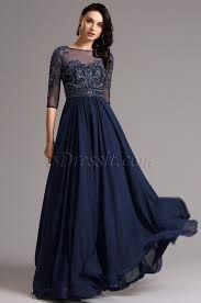 evening dress half sleeves navy blue evening dress formal gown 36161305