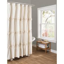 Amazon Extra Long Shower Curtain Amazon Com Lush Decor Darla Shower Curtain 72 By 72 Inch Ivory