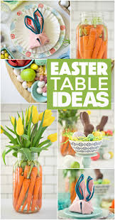 simple easter table ideas fork and beans