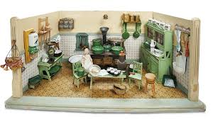 Kitchen Dollhouse Furniture by Home At Last Antique Doll And Dollhouses Theriault U0027s