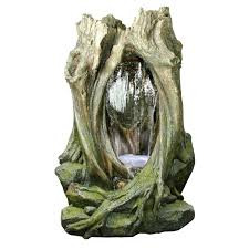 yosemite home decor tree stump waterfall outdoor fountain