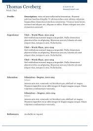 Resume Template Docx Marianne Elegant Modern And Creative Resume Template