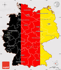Detailed Map Of Germany by Flag Simple Map Of Germany Flag Aligned To The Middle