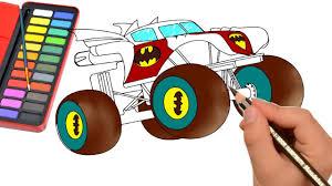 monster trucks drawings how to draw monster truck color monster truck for kids draw