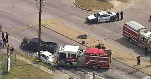 dallas fire engine close call in 3 car accident u2013 firefighter spot