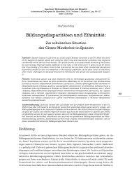 Plana K Hen Olaf Beuchling 2014 Bildungsdisparitäten Und Ethnizität Zur