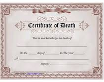 free printable blank certificate of death