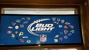 bud light light up sign l k bud light beer nfl football all teams light up sign game room