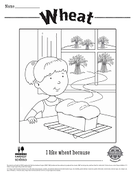 wheat coloring sheets from food hero coloring sheets pinterest