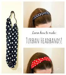 headband elastic how to make a turban headband