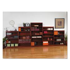 Corner Bookcase Cherry Alera Square Corner Wood Bookcase Two Shelf 35 5 8w X 11 3 4d X