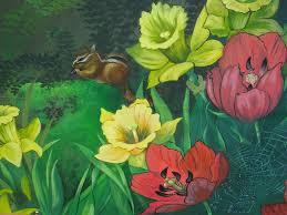 secret garden mural painting by diana schuppel Garden Mural Ideas