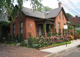 home decor columbus ohio brick german village home with beautiful garden landscaping