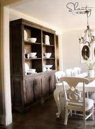 Diy Dining Room by Diy Dining Room Sideboard And Hutch Restoration Hardware Style