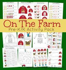 on the farm pre k k activity pack free printable the farm