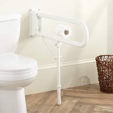 grab bars shower grab bars signature hardware swing up support rail with adjustable leg ada compliant