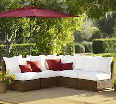 pottery barn patio furniture build your own palmetto all weather wicker sectional components