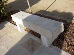 bespoke orders stone benches made from sandstone steps