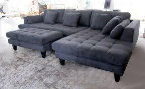 Gray Microfiber Sectional Sofa Modern Microfiber Sectional Sofa Foter