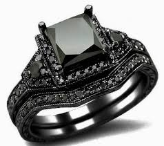 black engagement rings images Lovely 2 01ct black princess cut diamond engagement ring bridal jpg