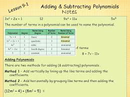 polynomials and factoring ppt video online download