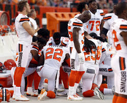cleveland browns players kneel during anthem washington times