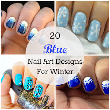 winter blues 20 blue nail art designs babble
