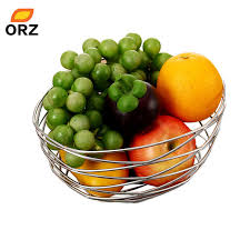 metal fruit basket orz fruit basket metal wire bird s nest banana holder fruit rack