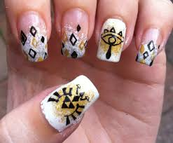 zelda nails art triforce sheikahs symbols http hubz