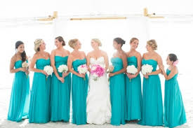 turquoise wedding dresses breezy wedding in turquoise and pink