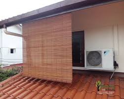 Blind Curtain Singapore Curtain Bamboo Blinds At Pool Yard Balcony Singapore Outdoor