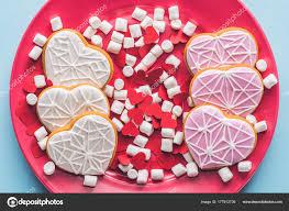 heart shaped cookies view heart shaped cookies sweet marshmallow confetti plate