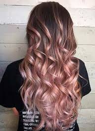 hambre hairstyles braun nach rosengold ombre hairstyles 2018 ideas for fashion