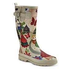 womens rubber boots size 9 s chief whale print boots navy target