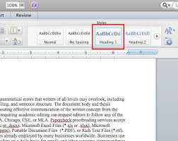 microsoft table of contents u2014 word 2011 mac